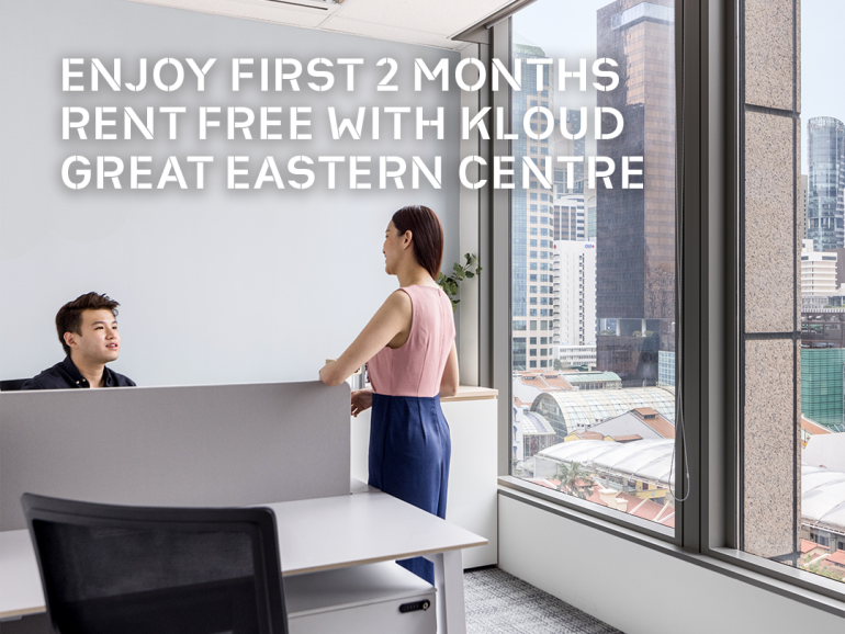 First 2 Months Rent Free Promotion at KLOUD Great Eastern Centre!
